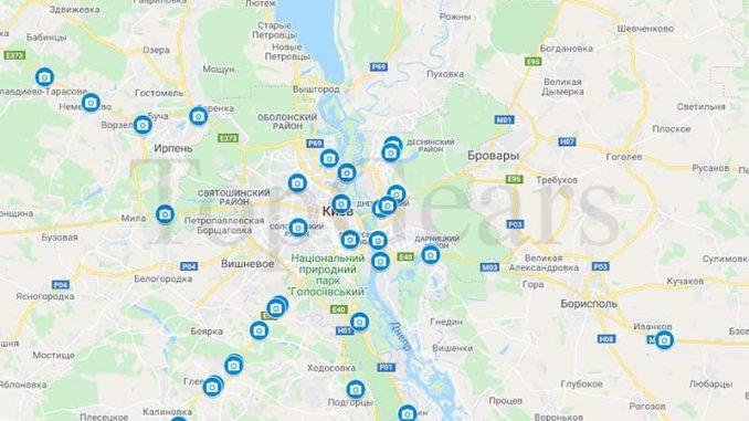 карта камер видеофиксации