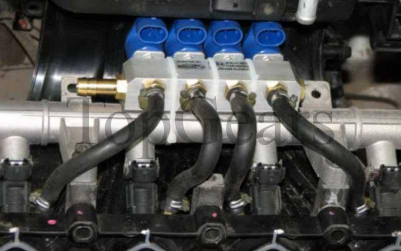 переключение с газа на бензин